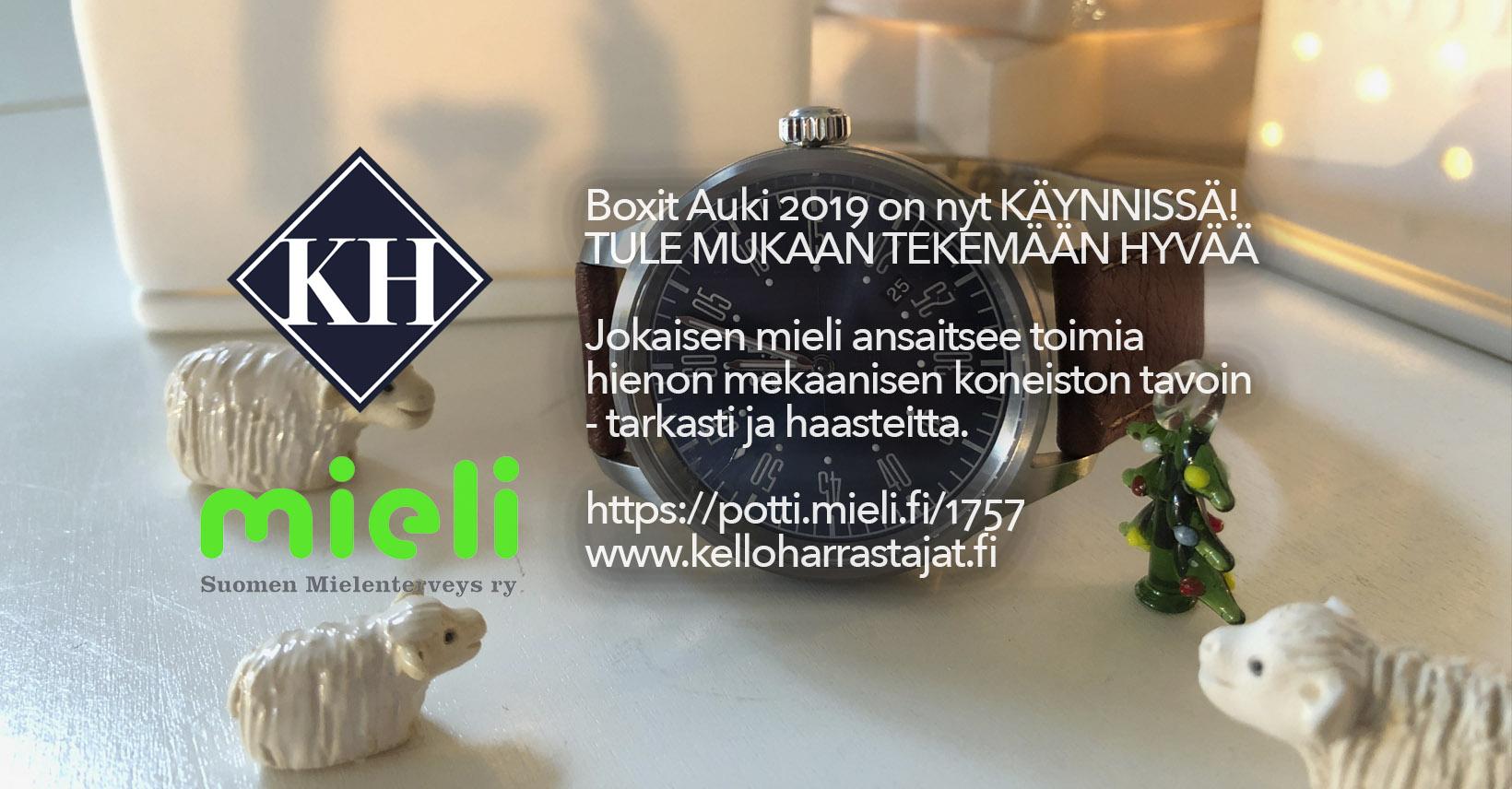 Boxit Auki 2019 – MIELI Suomen Mielenterveys Ry:n hyväksi on nyt käynnissä!