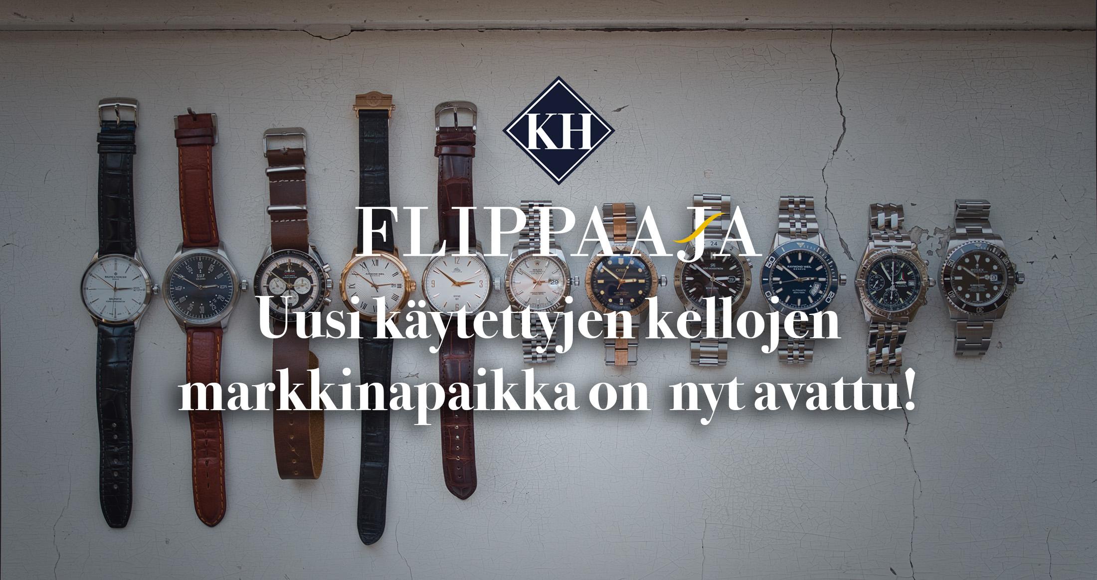 Flippaaja.fi – Suomen suosituin käytettyjen kellojen markkinapaikka on vihdoin avattu!