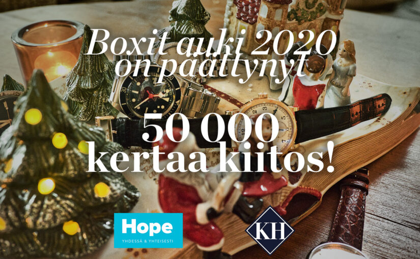Boxit Auki 2020 on päättynyt! 50 000 kertaa kiitos!